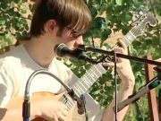 Aaron O'Rourke on the 6 string Banjola at the Colorado Banjola Festival
