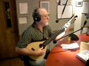 Banjola demonstration at radio station KGNU – Steve Mullins and Shelley Schlender